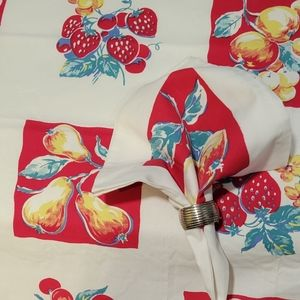 VTG-Crate and Barrel-Square Fruit Tablecloth